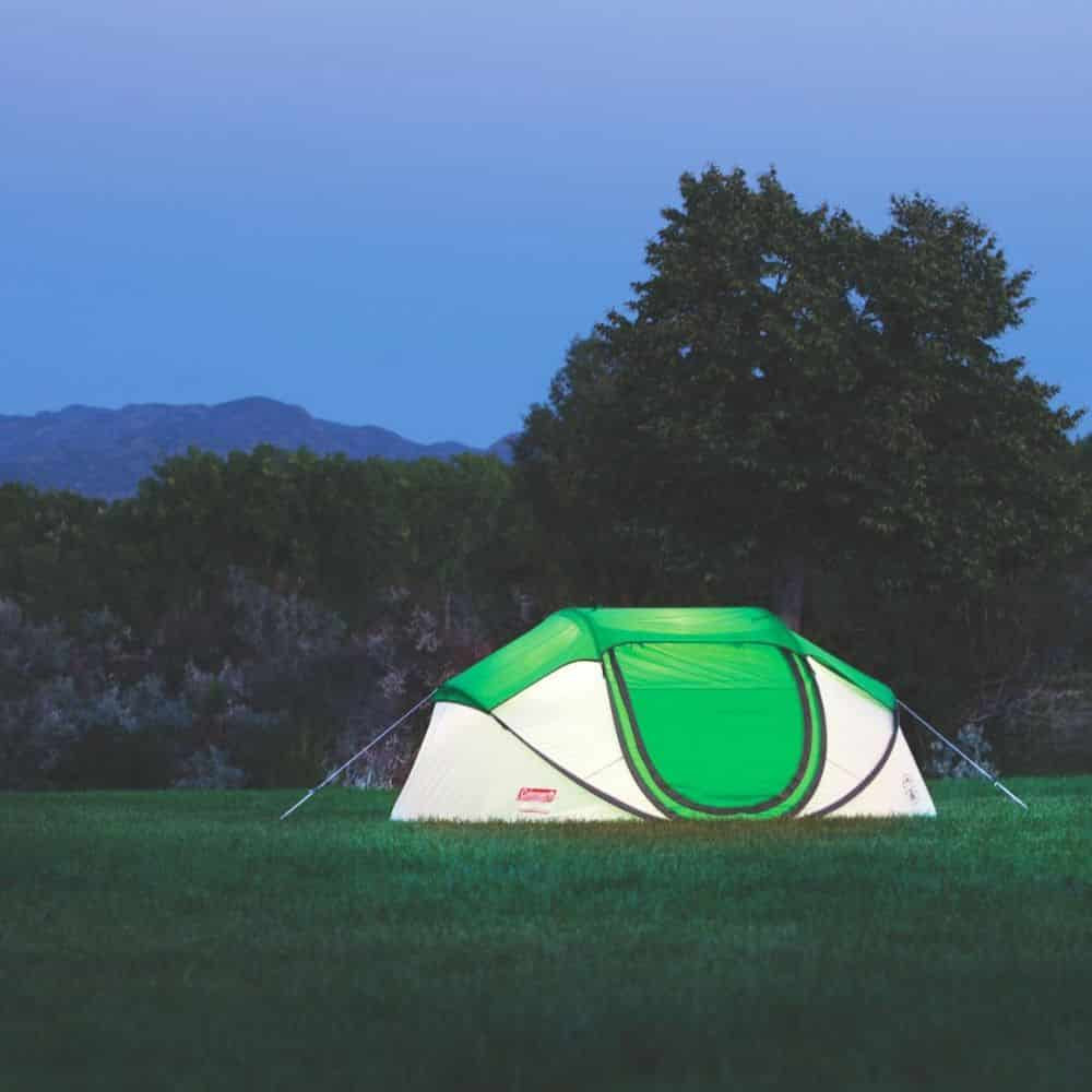 Coleman 4-Person Pop Up Tent in Field