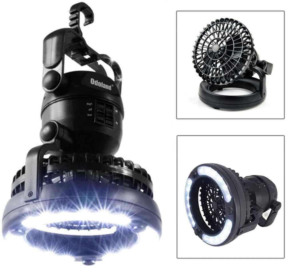 Odoland Portable LED Lantern with Ceiling Fan