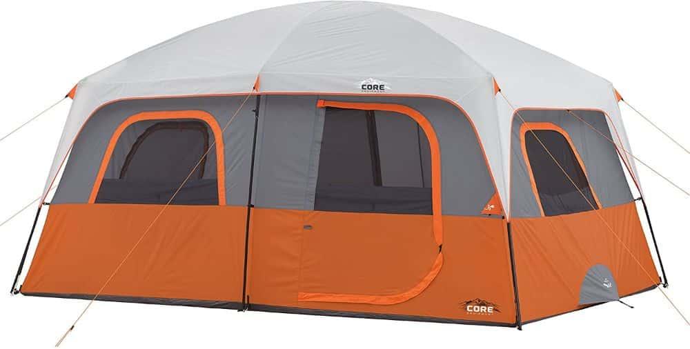 Core 10-Person Straight Wall Cabin Tent