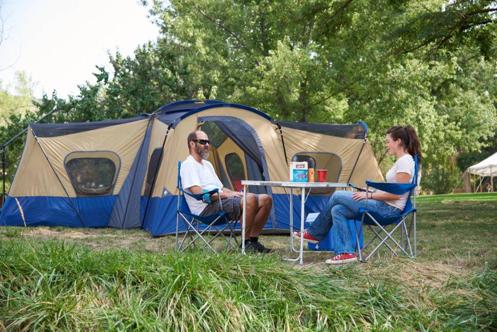Ozark Trail Base Camp 14-Person Cabin Tent Couple