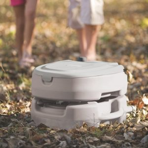 Coleman Portable Flush Toilet Outdoors