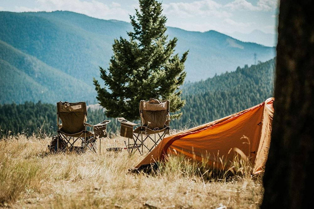 Alps Mountaineering King Kong Chairs in Mountain Campsite