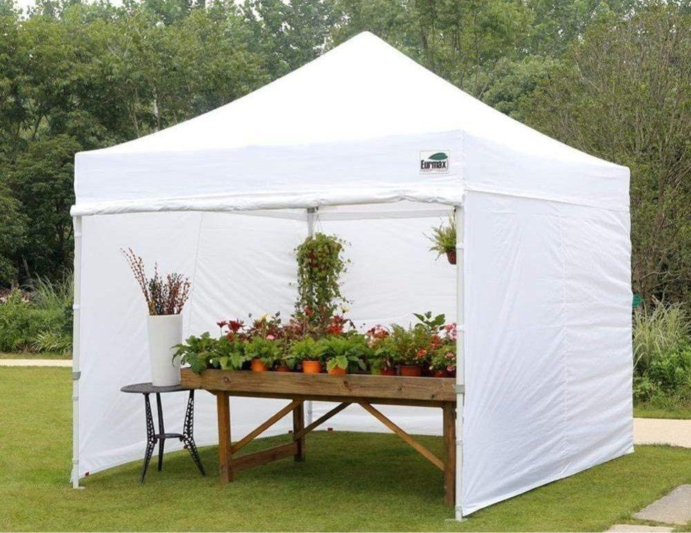 Eurmax 10'x10' Ez Pop-up Canopy Tent with Plants