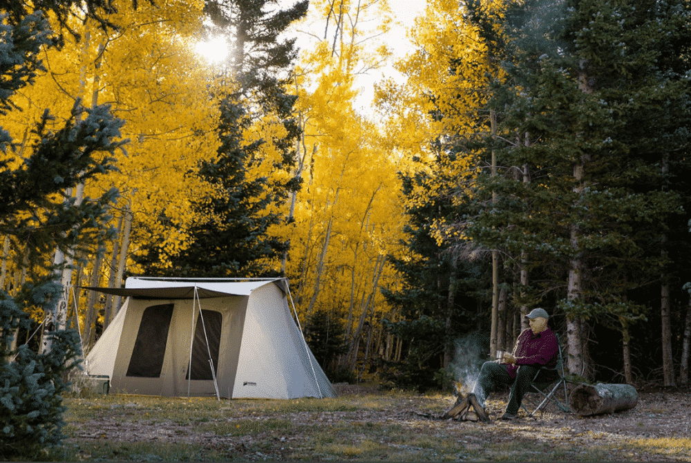 Kodiak Canvas Flex-Bow Canvas Tent Deluxe in Woods