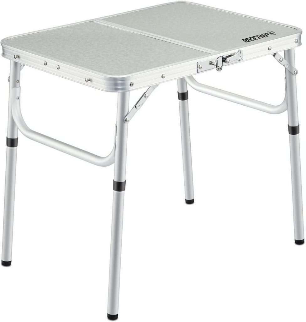 REDCAMP Small Folding Table with Adjustable Height