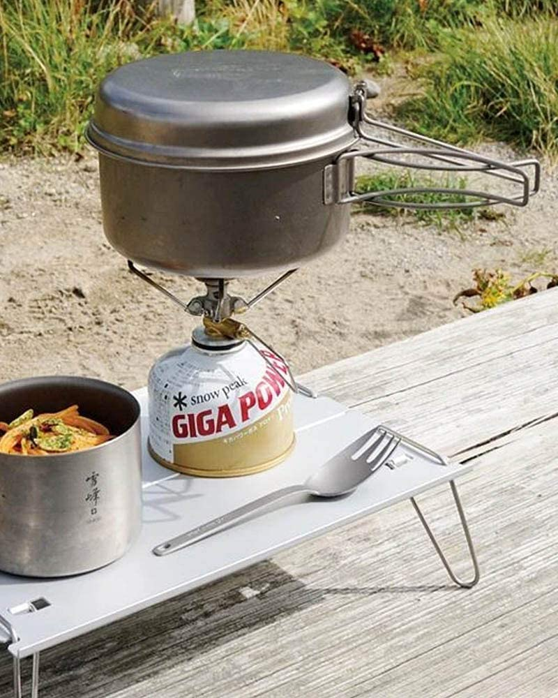 Snow Peak Multi Compact Cookset in Use